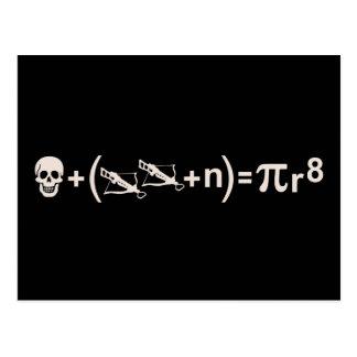 Fórmula del pirata tarjetas postales