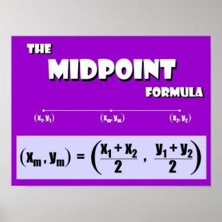 Fórmula del punto mediano póster