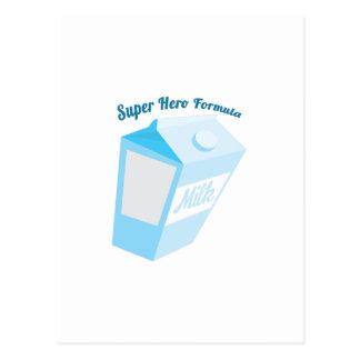Fórmula del superhéroe tarjeta postal