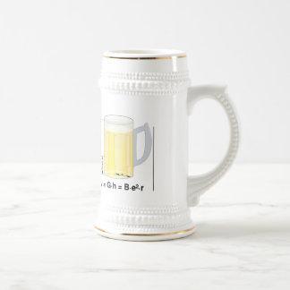 Fórmula/ecuación divertidas de la cerveza jarra de cerveza