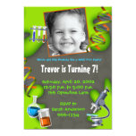 Formula for Fun - Boys 5x7 Paper Invitation Card
