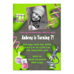 Formula for Fun - Girls 5x7 Paper Invitation Card