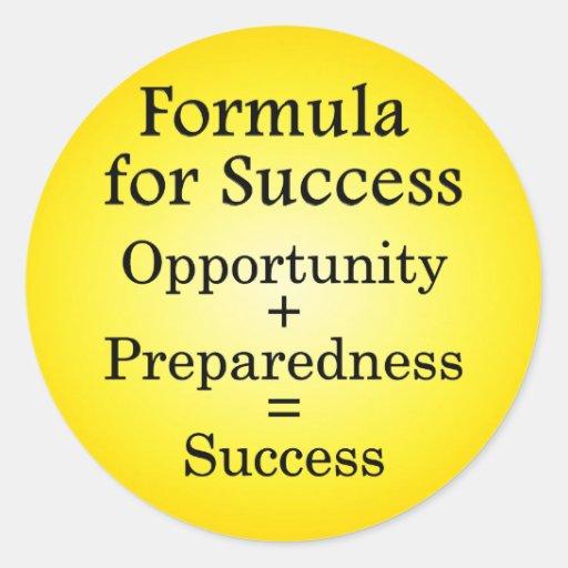 Formula for Success Classic Round Sticker