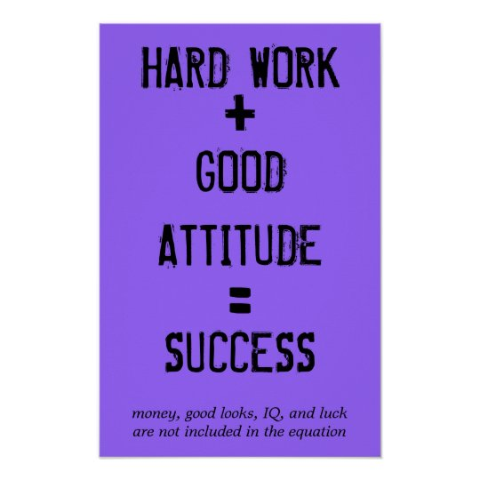 Success Quotes For Students: Formula For Success Poster