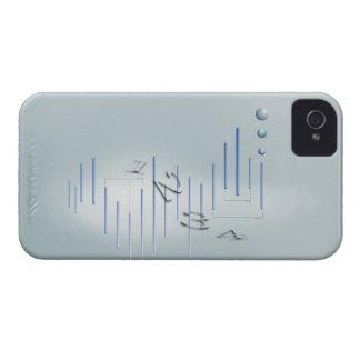 Fórmula, gráfico, símbolos 11 de la matemáticas iPhone 4 cárcasa