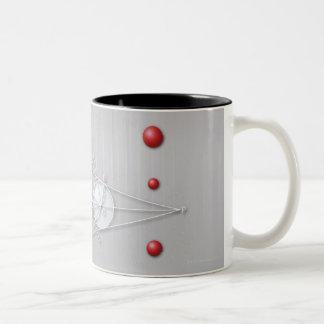 Fórmula, gráfico, símbolos 12 de la matemáticas taza de café de dos colores