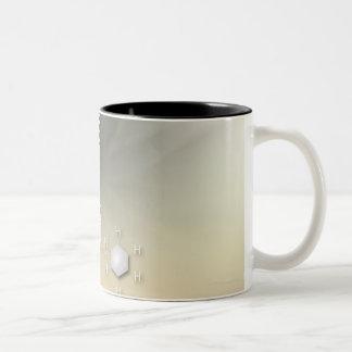 Fórmula, gráfico, símbolos 14 de la matemáticas taza de café de dos colores
