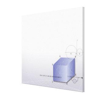 Fórmula, gráfico, símbolos 2 de la matemáticas lienzo envuelto para galerías