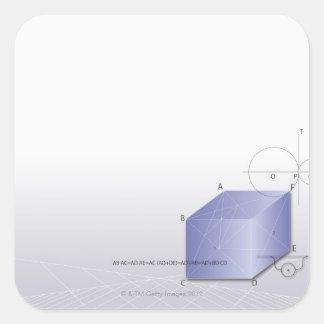 Fórmula, gráfico, símbolos 2 de la matemáticas pegatina cuadrada