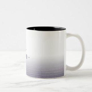 Fórmula, gráfico, símbolos 4 de la matemáticas taza de café de dos colores