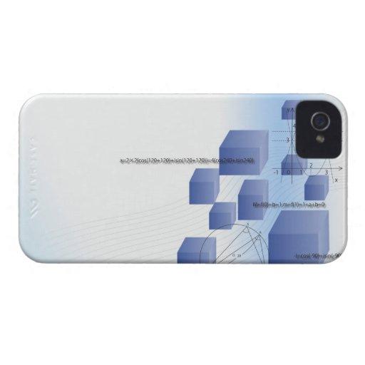 Fórmula, gráfico, símbolos 5 de la matemáticas Case-Mate iPhone 4 protectores