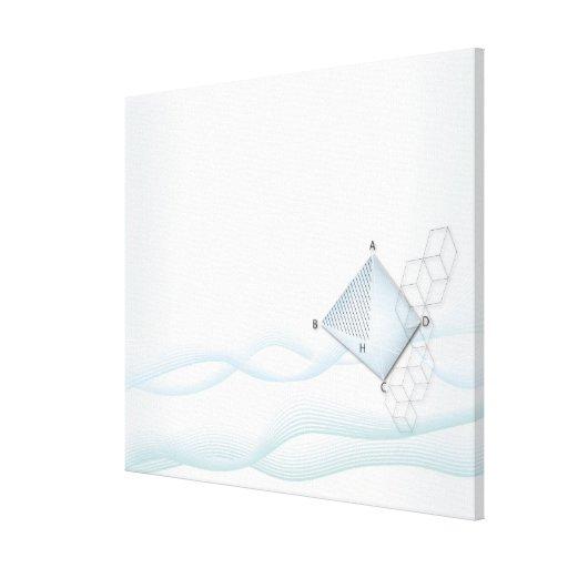 Fórmula, gráfico, símbolos 6 de la matemáticas lona envuelta para galerías