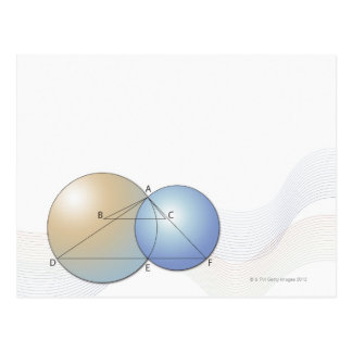 Fórmula, gráfico, símbolos 7 de la matemáticas tarjeta postal