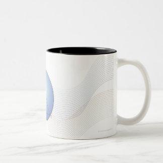 Fórmula, gráfico, símbolos 7 de la matemáticas taza de café de dos colores