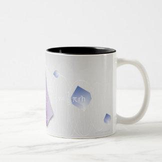 Fórmula, gráfico, símbolos 8 de la matemáticas taza de café de dos colores