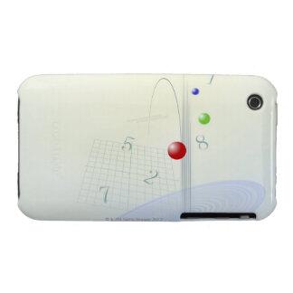 Formula, graph, math symbols 10 iPhone 3 cover