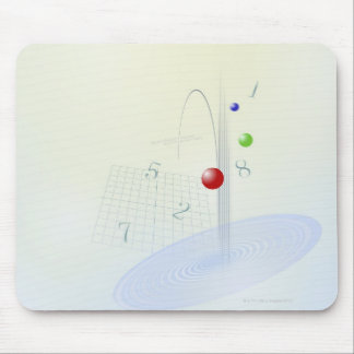 Formula, graph, math symbols 10 mouse pad