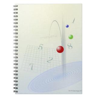 Formula, graph, math symbols 10 notebook