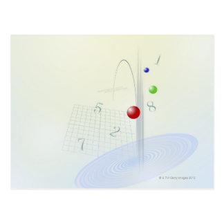 Formula, graph, math symbols 10 postcard