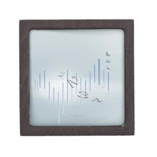 Formula, graph, math symbols 11 jewelry box