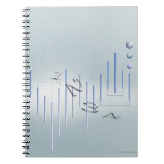 Formula, graph, math symbols 11 notebook