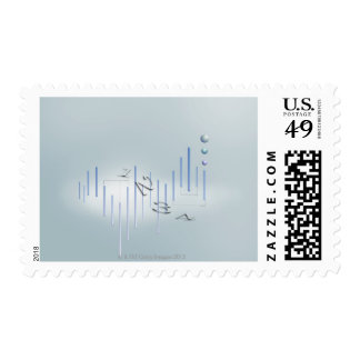 Formula, graph, math symbols 11 postage