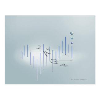 Formula, graph, math symbols 11 postcard