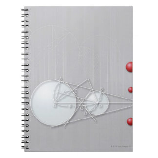 Formula, graph, math symbols 12 notebook