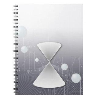 Formula, graph, math symbols 13 notebook