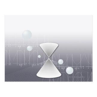 Formula, graph, math symbols 13 postcard