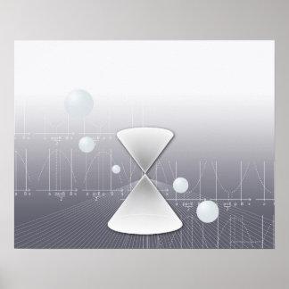 Formula, graph, math symbols 13 poster