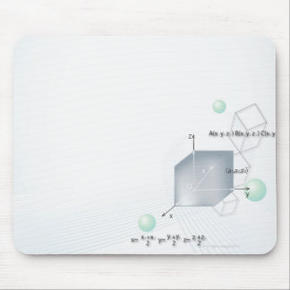 Formula, graph, math symbols 15 mouse pad