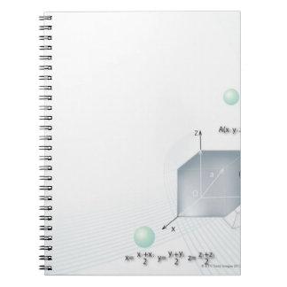 Formula, graph, math symbols 15 notebook