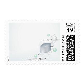 Formula, graph, math symbols 15 postage