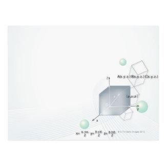 Formula, graph, math symbols 15 postcard