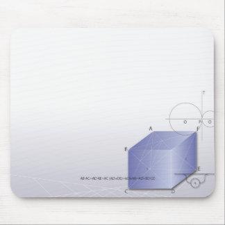 Formula, graph, math symbols 2 mouse pad