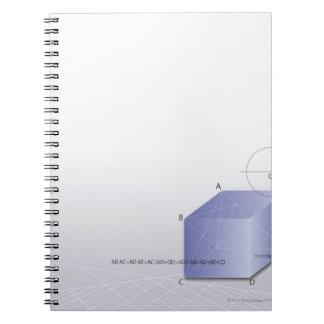 Formula, graph, math symbols 2 notebook