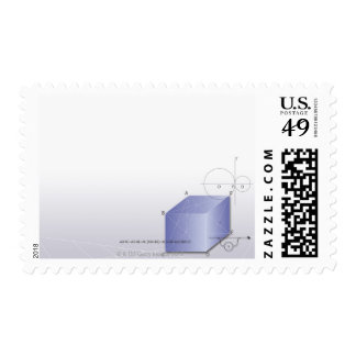 Formula, graph, math symbols 2 postage