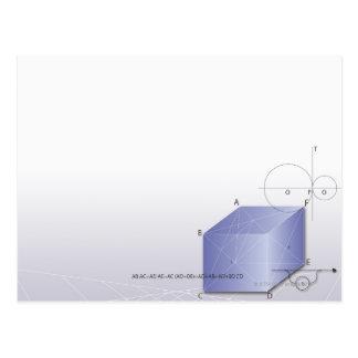 Formula, graph, math symbols 2 postcard