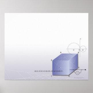 Formula, graph, math symbols 2 poster
