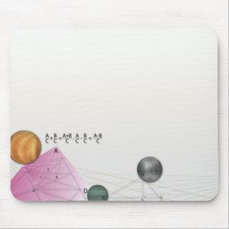 Formula, graph, math symbols 3 mouse pad