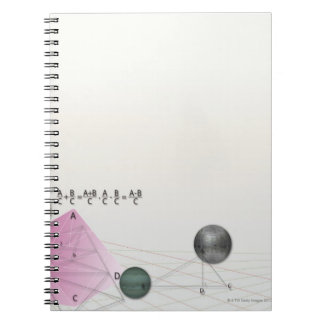 Formula, graph, math symbols 3 notebook