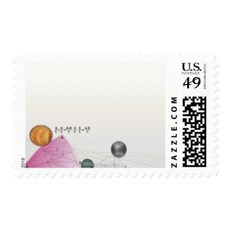 Formula, graph, math symbols 3 postage
