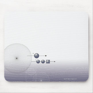 Formula, graph, math symbols 4 mouse pad