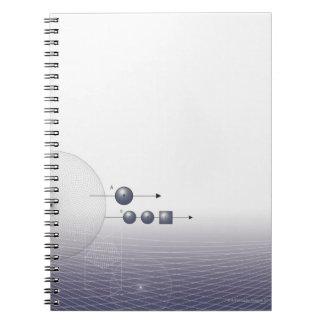 Formula, graph, math symbols 4 notebook