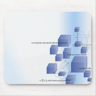 Formula, graph, math symbols 5 mouse pad
