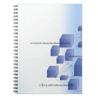 Formula, graph, math symbols 5 notebook