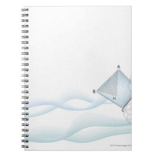 Formula, graph, math symbols 6 notebook
