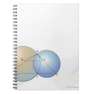 Formula, graph, math symbols 7 notebook