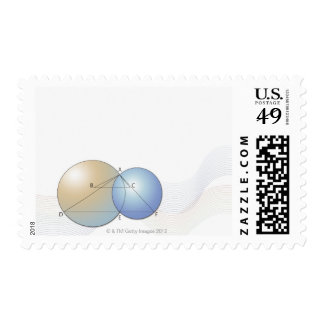 Formula, graph, math symbols 7 postage